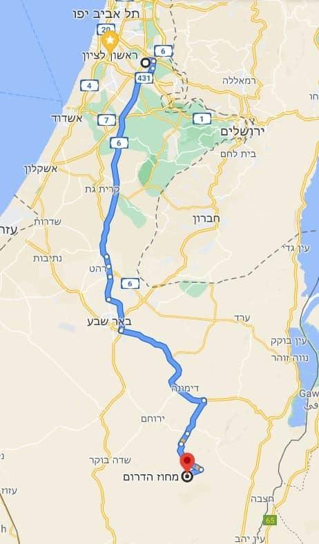 מסלול הובלה מרכז דרום
